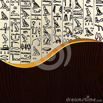 Sample of Egypt hieroglyphs