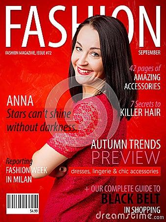 Free Sample Fashion Magazine Cover Royalty Free Stock Photos - 83538678