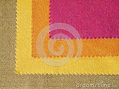 Sample hot tone color fabric