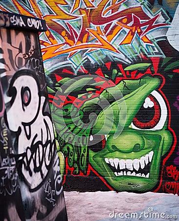 Under Pressure Graffiti Festival 2012 - 2 Editorial Stock Photo