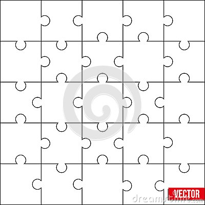 Sample of square puzzle blank template or cutting for Puzzle cutting board plans