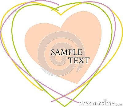 Sample Text Heart