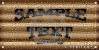 Sample text template