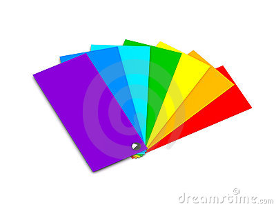 Samples of color (rainbow)