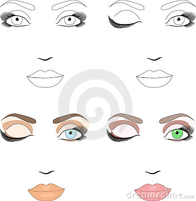 Samples of scheme for makeup application