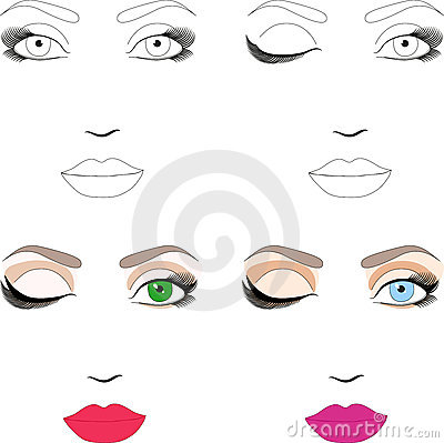 Samples of scheme for makeup with examples