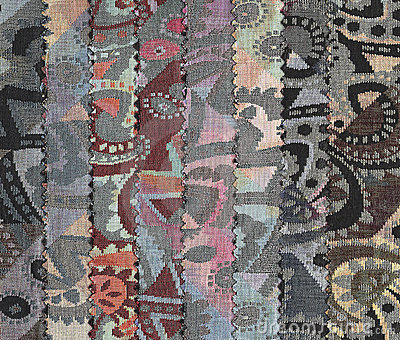 Samples of textiles.