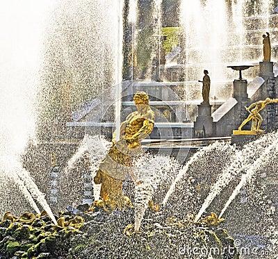 Samson and the Lion Fountain
