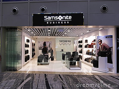 Samsonite business brand retail boutique outlet Editorial Stock Image