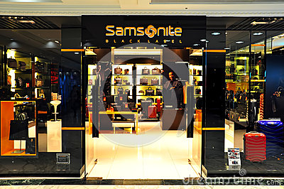 Samsonite retail boutique Editorial Image