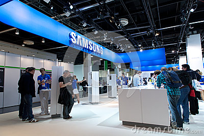 Samsung exhibition hall at Photokina 2012 Editorial Image