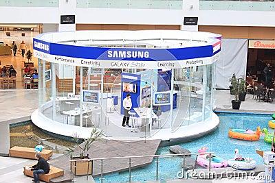 Samsung galax Redaktionell Arkivfoto