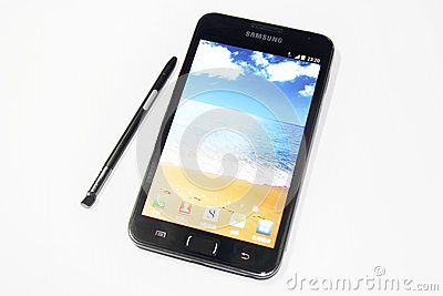 Samsung Galaxy Note Editorial Stock Photo