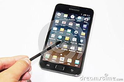 Samsung Galaxy Note Editorial Image