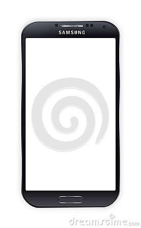 SAMSUNG GALAXY S4 BLACK Editorial Stock Image