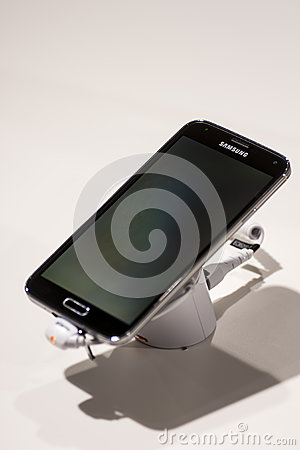 SAMSUNG GALAXY S5, MOBILE WORLD CONGRESS 2014 Editorial Photography