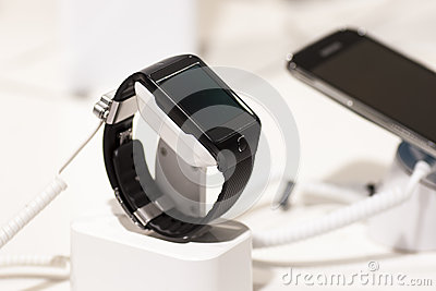 SAMSUNG GEAR 2, MOBILE WORLD CONGRESS 2014 Editorial Stock Photo