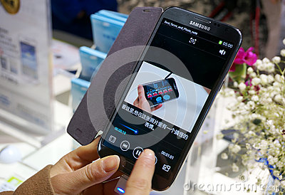 Samsung mobile phone Editorial Stock Photo