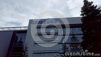 Samsung Research America SRA Campus in Silicon Valley, marszruta marszowa z logo zbiory