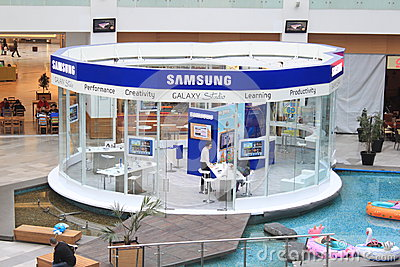 Samsung store Editorial Stock Image