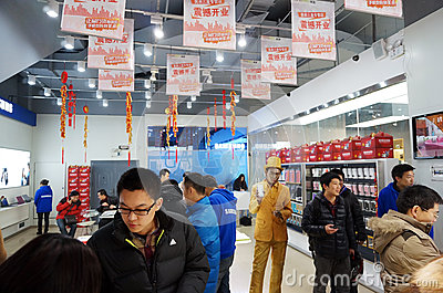 Samsung  store openning Editorial Stock Photo