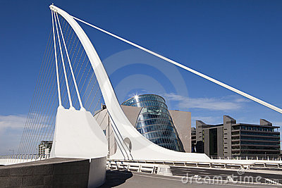 Samuel Beckett Bridge Editorial Photography