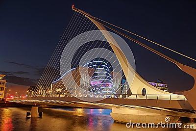 Samuel Beckett bridge.  Dublin. Ireland Editorial Photography