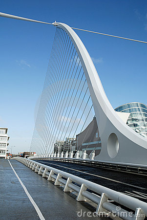 The Samuel Beckett Bridge in Dublin Editorial Photography