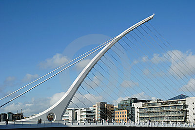 The Samuel Beckett Bridge in Dublin Editorial Image