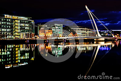 Samuel Beckett Bridge, Dublin, Ierland Redactionele Stock Foto