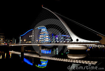 Samuel Beckett Bridge, Dublin, Ireland Editorial Image