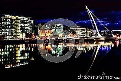 Samuel Beckett bro, Dublin, Irland Redaktionell Arkivfoto