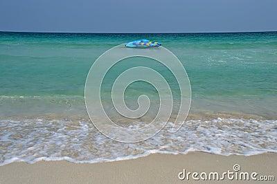 Samui beach banana boat