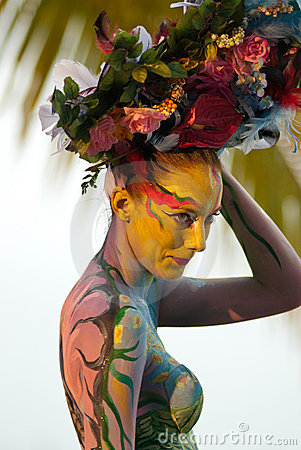 Samui body painting Editorial Photography