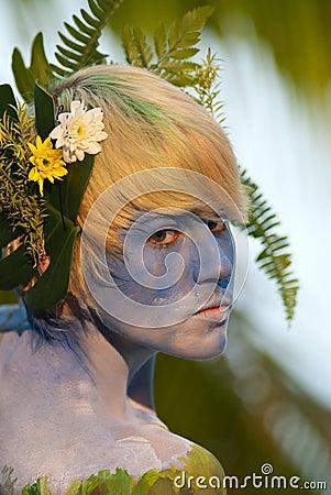 Samui body painting Editorial Photo