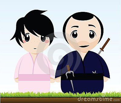 A Samurai and a Geisha