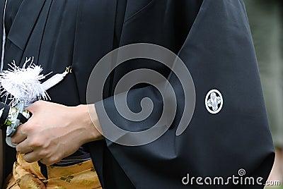 Samurai Grabbing Sword