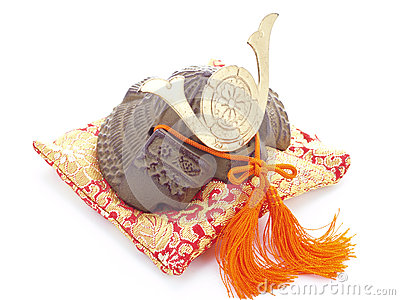 Samurai helmet.