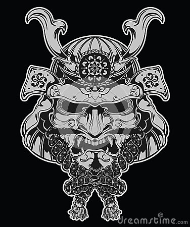 Free Samurai Mask Illustration Stock Images - 33176554