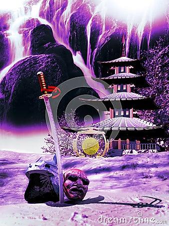 Free Samurai Retirement Royalty Free Stock Image - 111578566