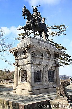 Samurai statue in Sendai
