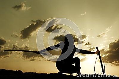 Samurai on sundown