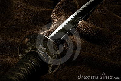Samurai sword in light
