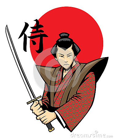 Samurai With The Sword Royalty Free Stock Images - Image ...