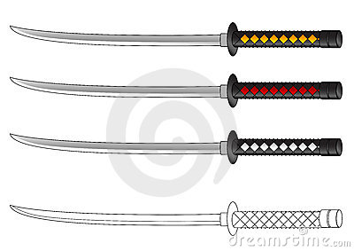 Stock Image Samurai Sword Vector Drawing Image3244701 on different cartoon people