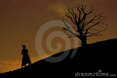 Samurai with tree