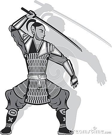 Samurai Vector Stock Vector - Image: 49277469