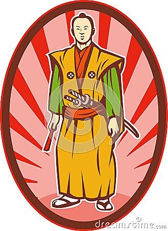 Free Samurai Warrior Katana Sword Royalty Free Stock Images - 14182359