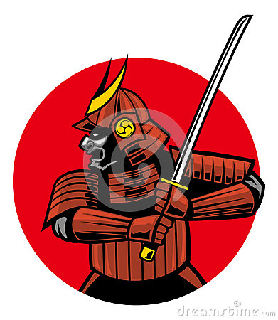 Samurai Warrior Mascot Royalty Free Stock Photo - Image ...