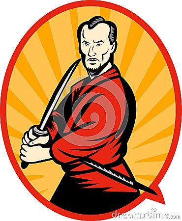 Free Samurai Warrior With Katana Royalty Free Stock Photography - 14570307